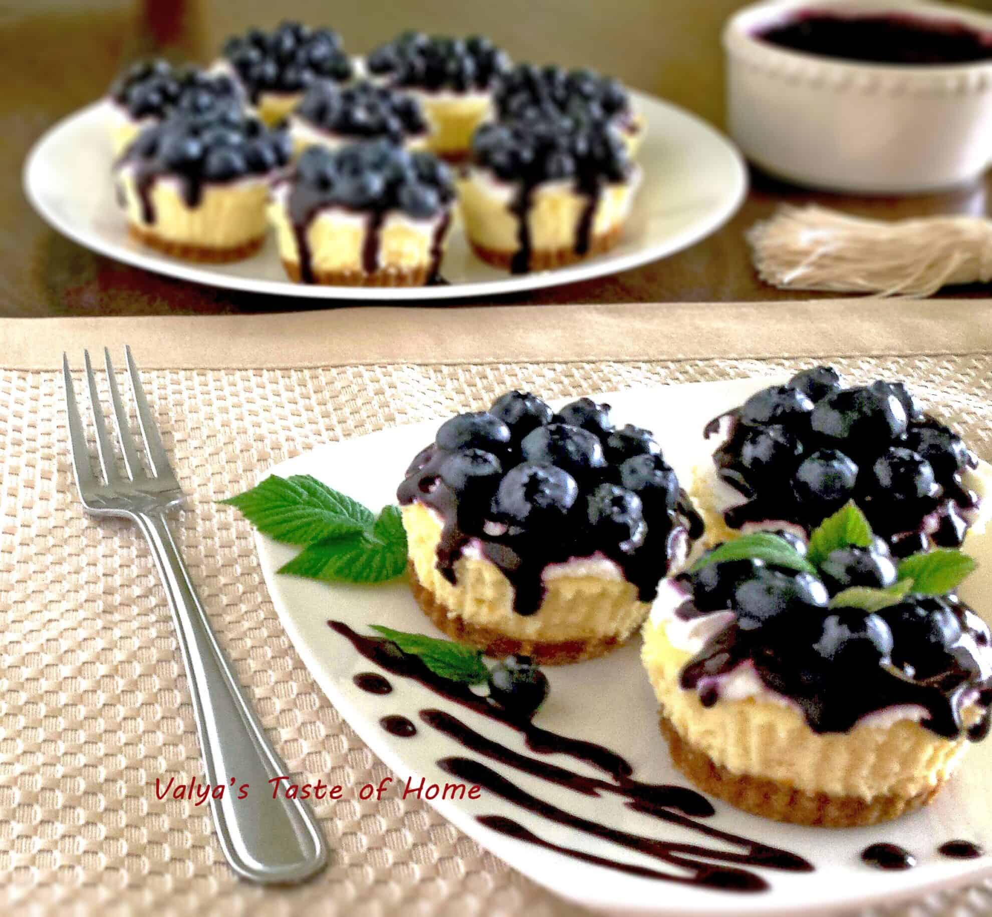 Mini Blueberry Cheesecakes