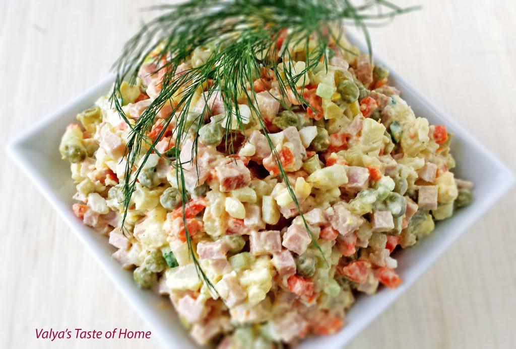 "Ukrainian Potato Salad (Olivie) - Салат ""Оливье"""
