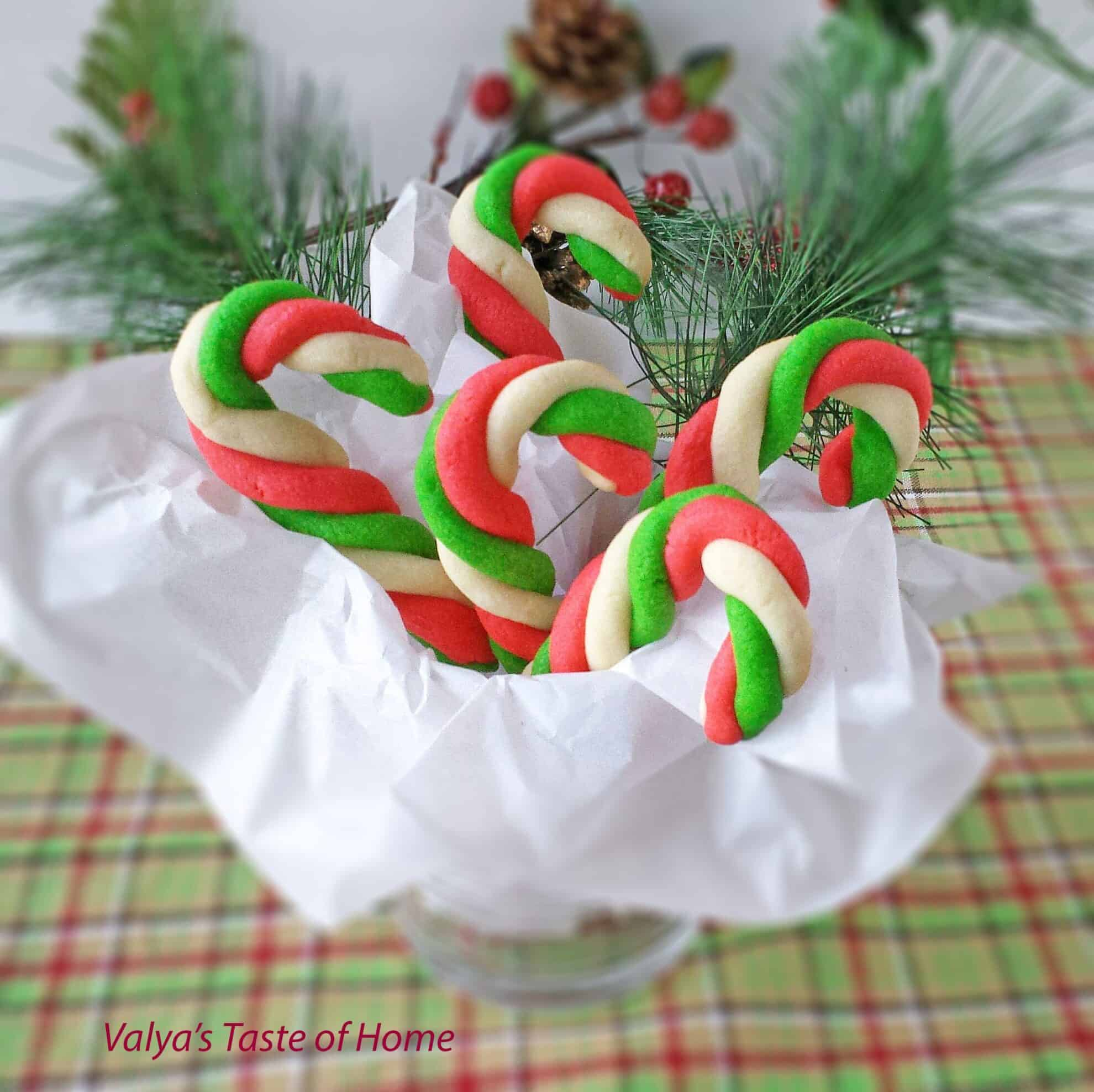 Mint Candy Cane Cookies