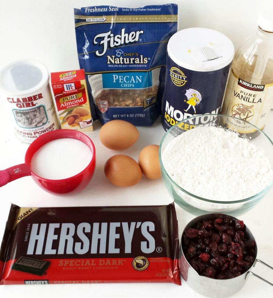 Dark Chocolate Cranberry and Pecan Biscotti