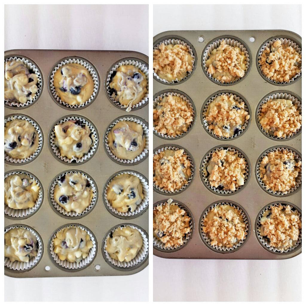 Blueberry Muffins with White Chocolate Morsels and Lemon Zest