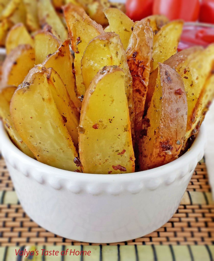 Bacon and Chive Roasted Potato Wedges