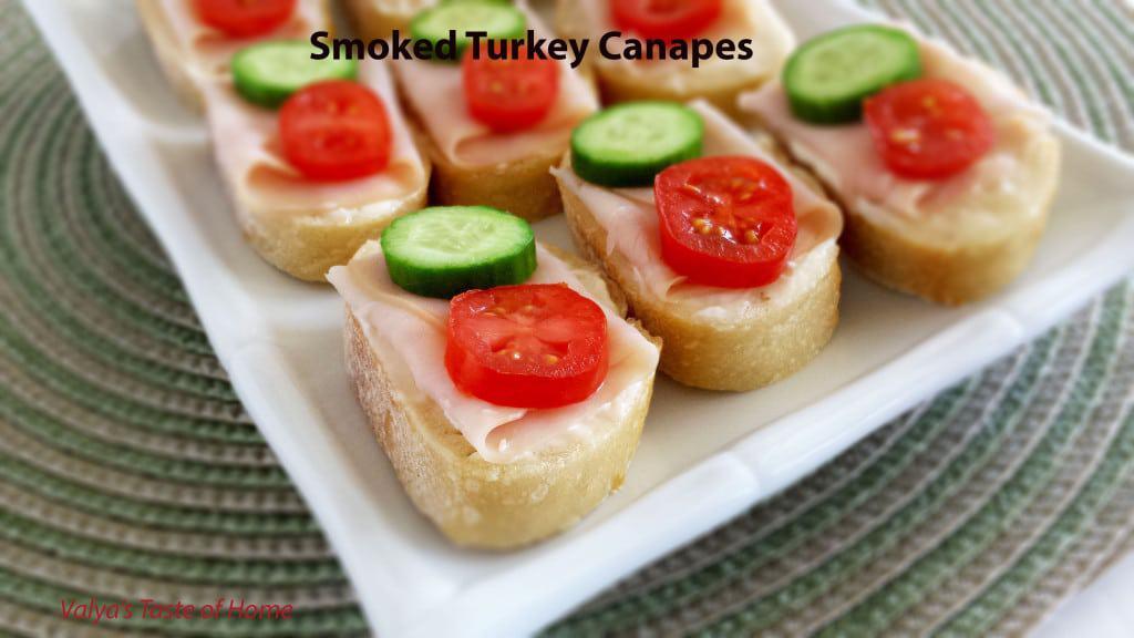 Smoked Turkey Canapes
