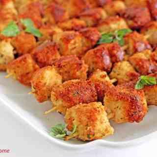 Breaded Parmesan Chicken Skewers