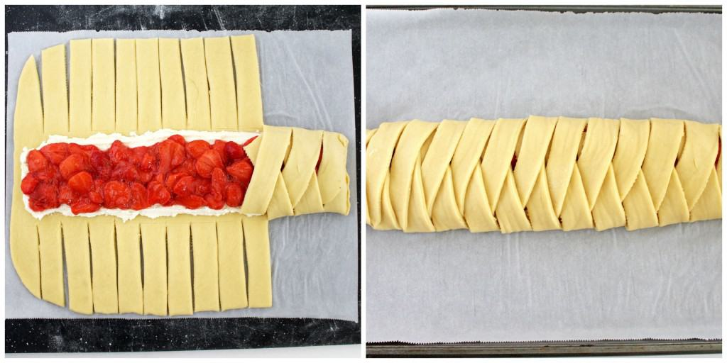Sweet Farmers Cheese and Strawberry Braid