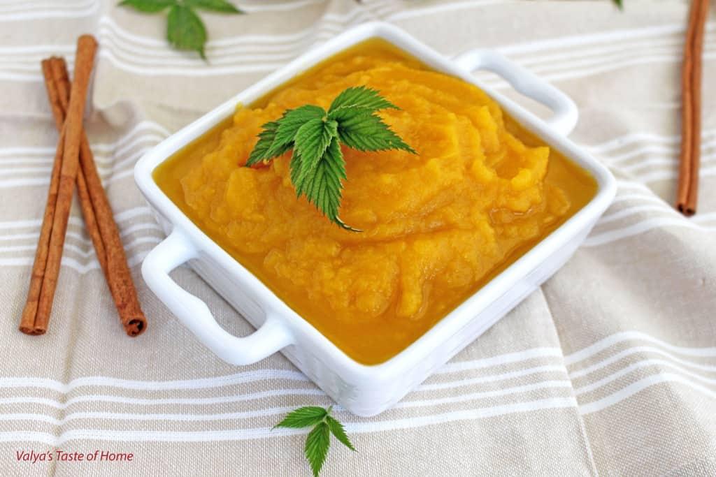 Pure Homemade Pumpkin Puree