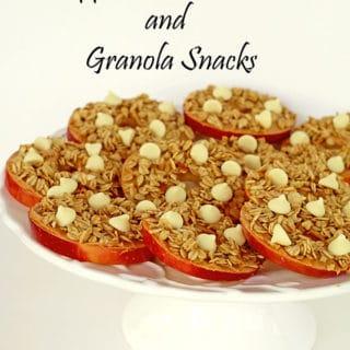 Apple Peanut Butter and Granola Snacks