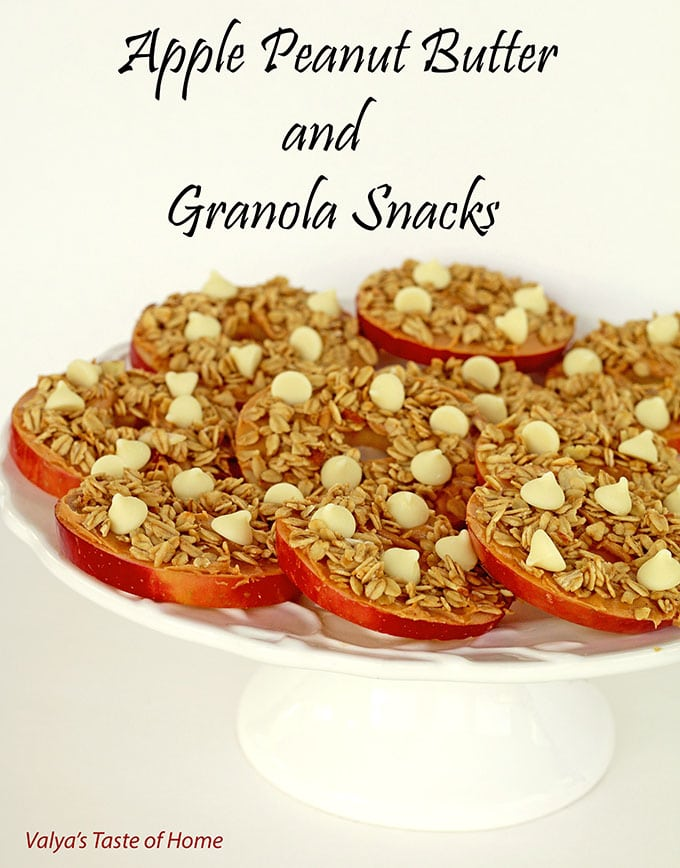 Apple Peanut Butter and Granola Snacks