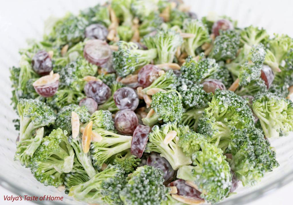 Broccoli Salad with Grapes and Almond Slivers Recipe