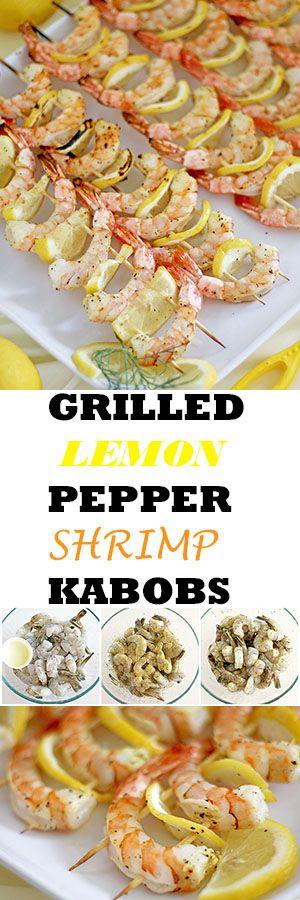 Grilled Lemon Pepper Shrimp Kabobs