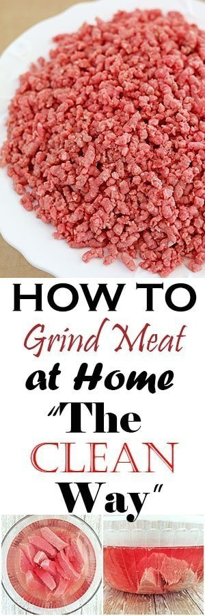 """How to Grind Meat at Home """"The Clean Way"""""""