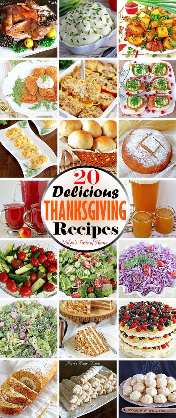 20 Delicious Thanksgiving Recipes. Find a variety of different recipes pieced together to help ease your Thanksgiving dinner prep anxiety. Most of the recipes on this list can be prepared ahead of time. It will be worth your time, I promise! So I hope these tips will help you enjoy cooking and baking with less hectic and stress as it can make or break your good times.