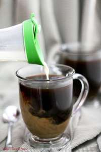 Homemade Vanilla Caramel Coffee Creamer
