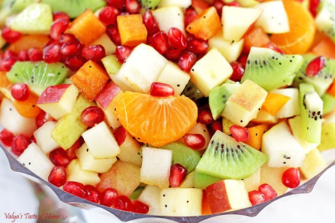 Healthy Winter Fruit Salad