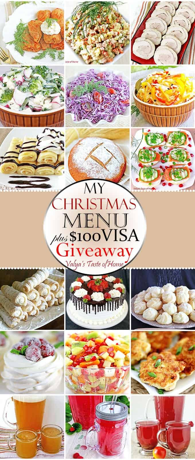 My 2016 Christmas Menu + $100 Visa Giveaway!