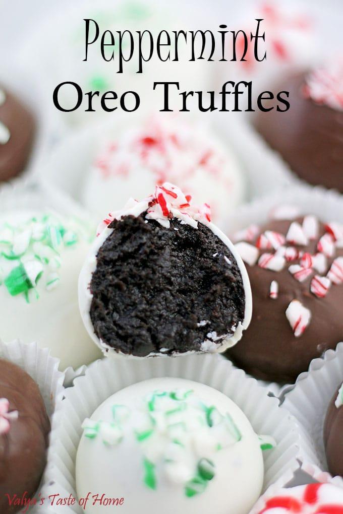 Peppermint Oreo Truffles