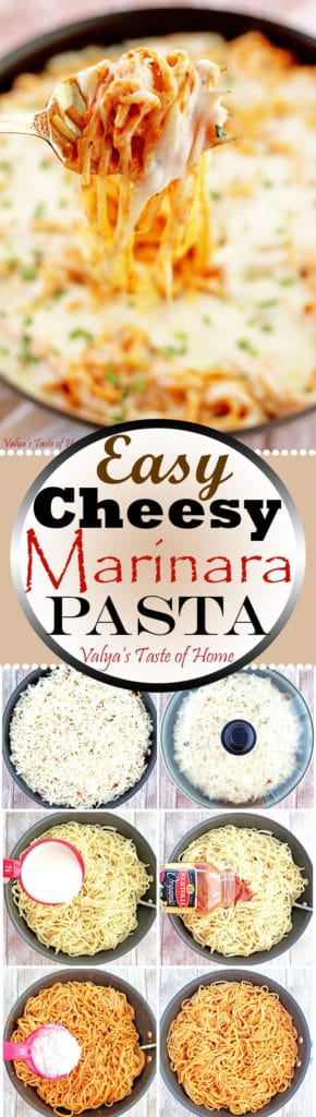 Easy Cheesy Marinara Pasta Recipe