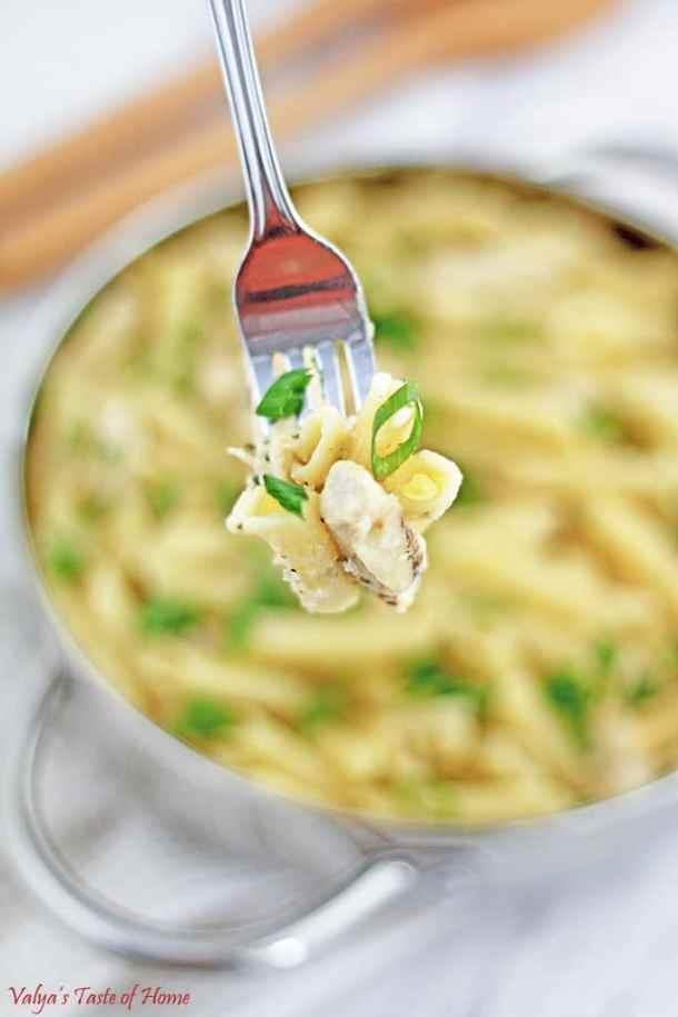 Creamy Garlic Chicken Pasta
