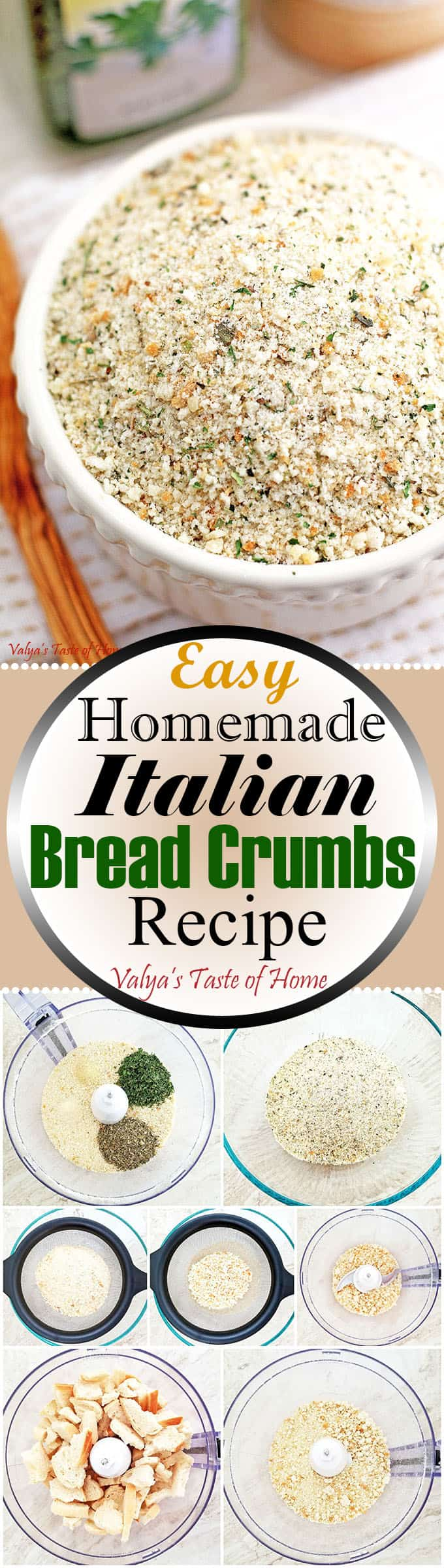 Easy Homemade Italian Bread Crumbs Recipe