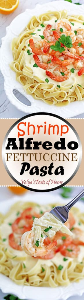 Shrimp Alfredo Fettuccine Pasta Recipe