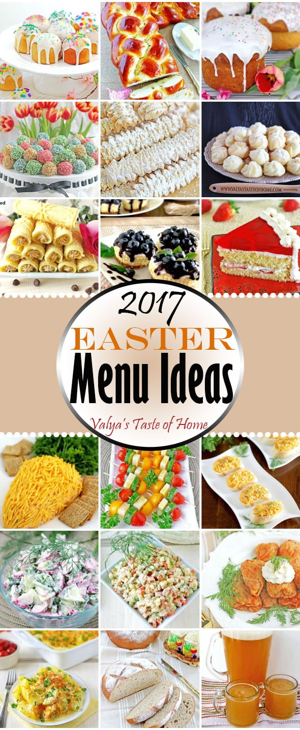 2017 Easter Menu Ideas
