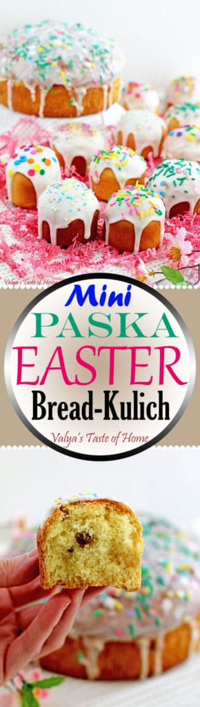 Mini Paska Easter Bread Recipe (Cupcake Size Paska - Kulich)