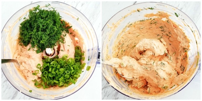 Carrot Cheese Spread with Smoked Salmon Appetizer