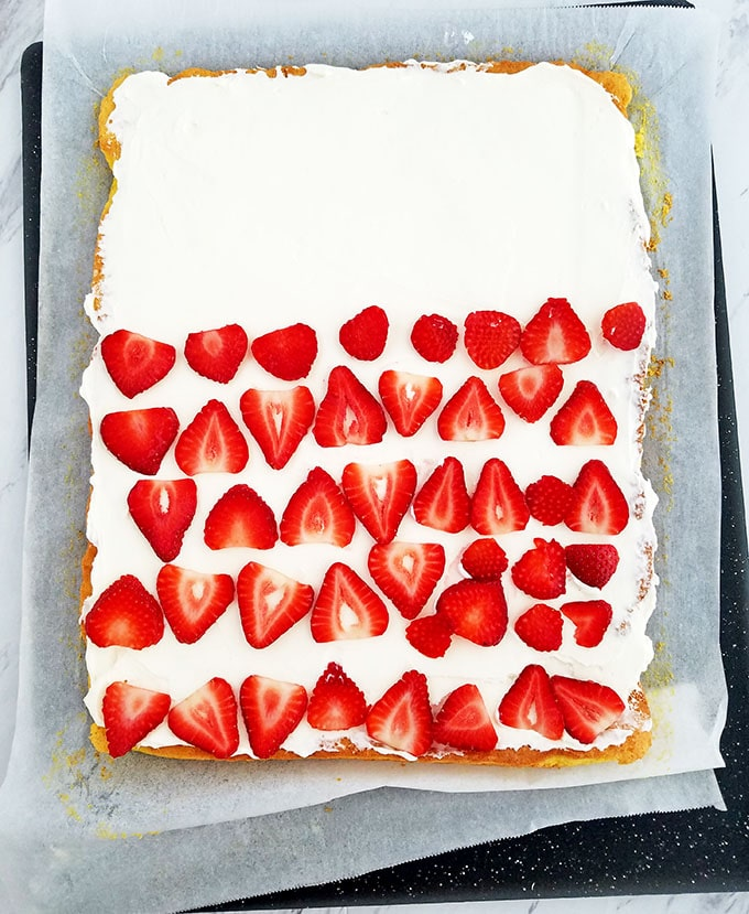 Vanilla Strawberry and Cream Cake Roll + Mother's Day Giveaway!