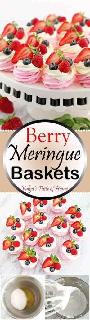 Berry Meringue Baskets Recipe