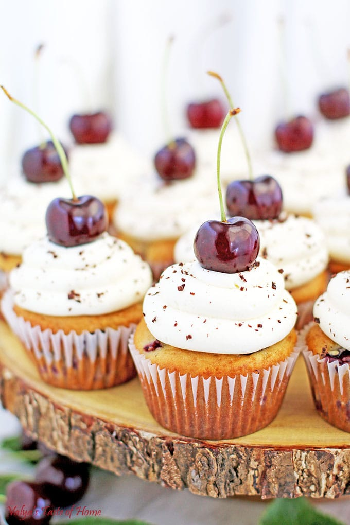 Cherry Vanilla Cupcakes Recipe