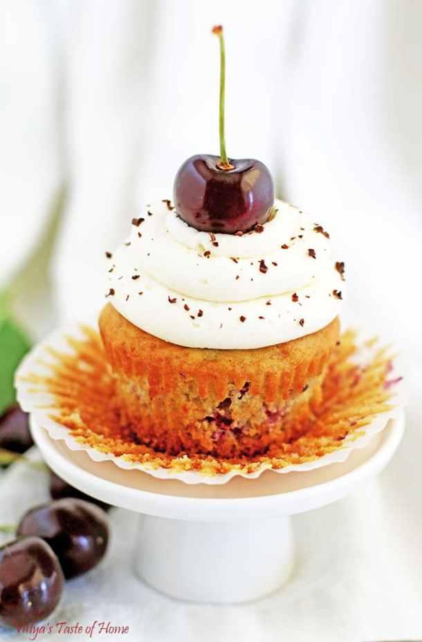 Cherry Vanilla Cupcakes Recipe