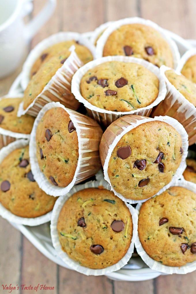Zucchini Chocolate Chip Muffins Recipe
