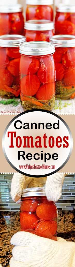 Canned Tomatoes Recipe