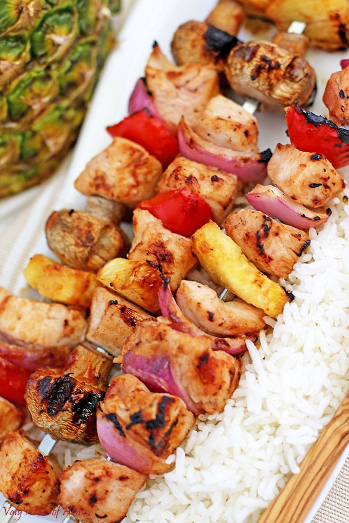 Grilled Hawaiian Chicken Kabobs