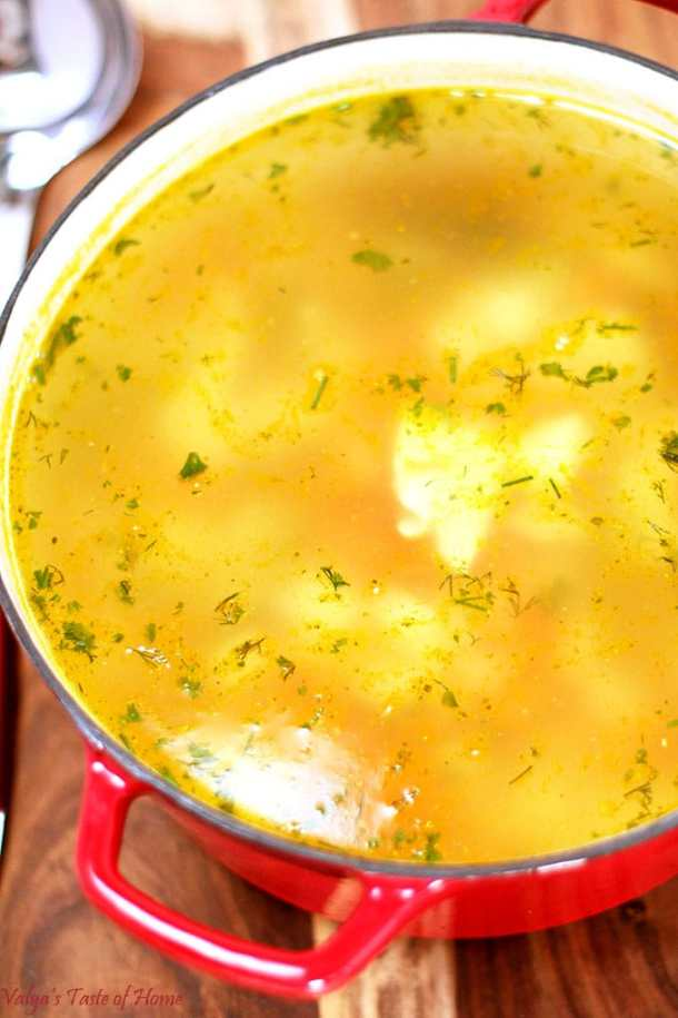 comfort food, filling and satisfying, homegrown dill, homegrown turkey meat, homemade soup, Leftover Thanksgiving Turkey Rice Soup Recipe, organic carrots, organic chicken bullion soup, organic parsley, organic potatoes, soup, soup from leftover turkey meat, vegetable and meat soup