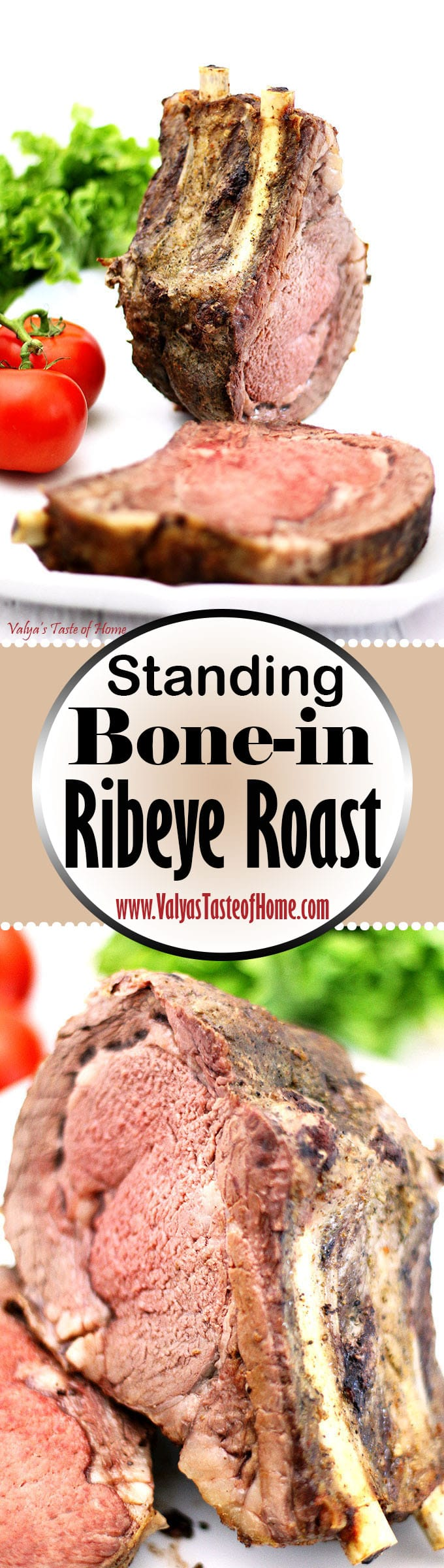 beef, bone-in rib roast, bone-in steak, juicy, ribeye steak, roasted standing bone-in steak, so delicious, soft, standing beef steak, Standing Bone-in Ribeye Roast Recipe, steak, tender