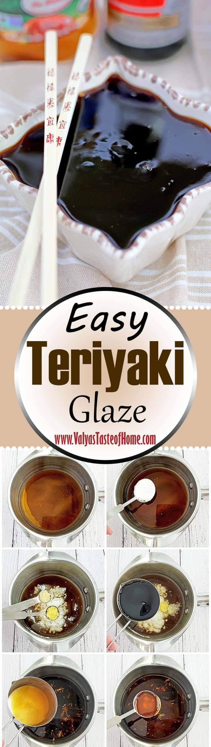 delicious, Easy Teriyaki Glaze Recipe, fresh garlic, fresh ginger, homemade, organic soy sauce, quick and easy recipe, raw honey, tasty recipe, teriyaki glaze