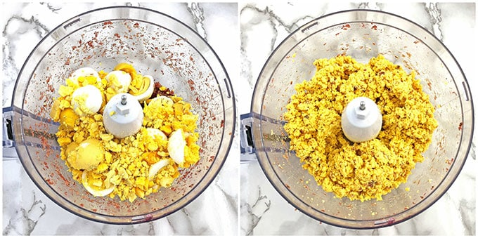 Bacon Avocado Deviled Egg Baskets, delic, delicious, deviled eggs, Easter cooking, Easter holiday, egg baskets, healthy, home eggs, homemade mayonnaise, organic avocado, organic parsley, sea salt