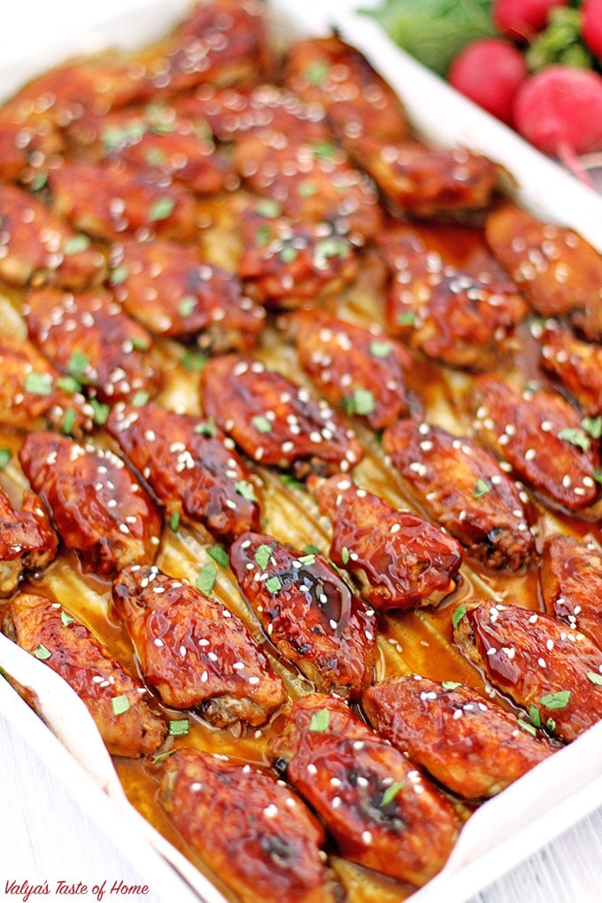 baked chicken, comfort food, delicious, homemade, homemade teriyaki glaze, oven baked chicken, teriyaki chicken wings, Teriyaki Glazed Chicken Wings