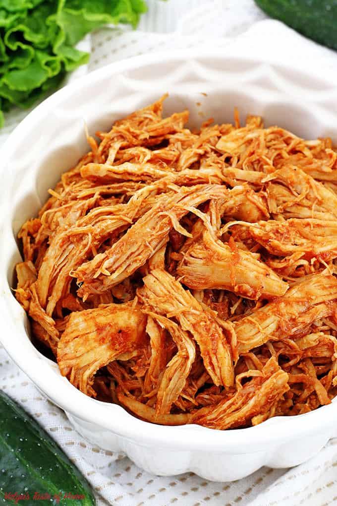 Easy Instant Pot Pulled BBQ Chicken Recipe - Valya's Taste ...