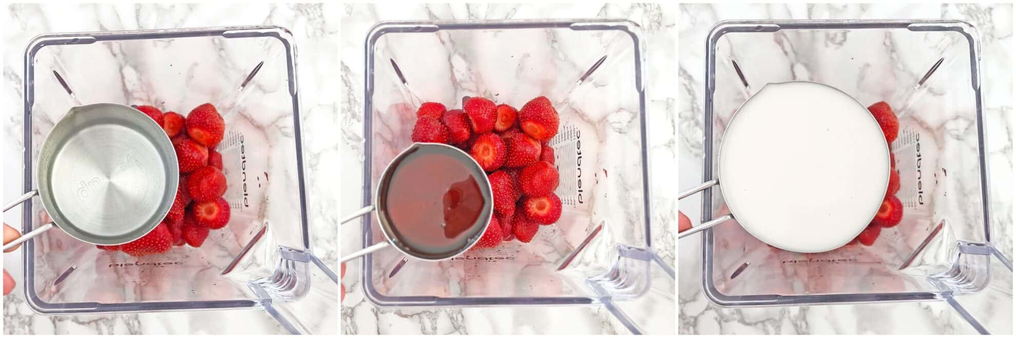 clean eating, dairy free, easy recipe, fresh strawberries, garden strawberries, gluten-free, healthy, Healthy Strawberry Popsicles Recipe, homegrown strawberries, homemade popsicles, kid-friendly, maple from Canada, organic maple syrup, popsicles, vanilla cashew milk, refined-sugar-free, vegan