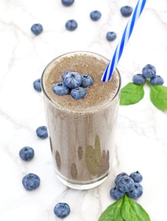 blueberries, cashew milk, clean eating, delicious, healthy diet, healthy eating, kid friendly, meal replacement drink, organic avocado, organic greek yogurt, organic maple syrup, organic spinach, smoothie