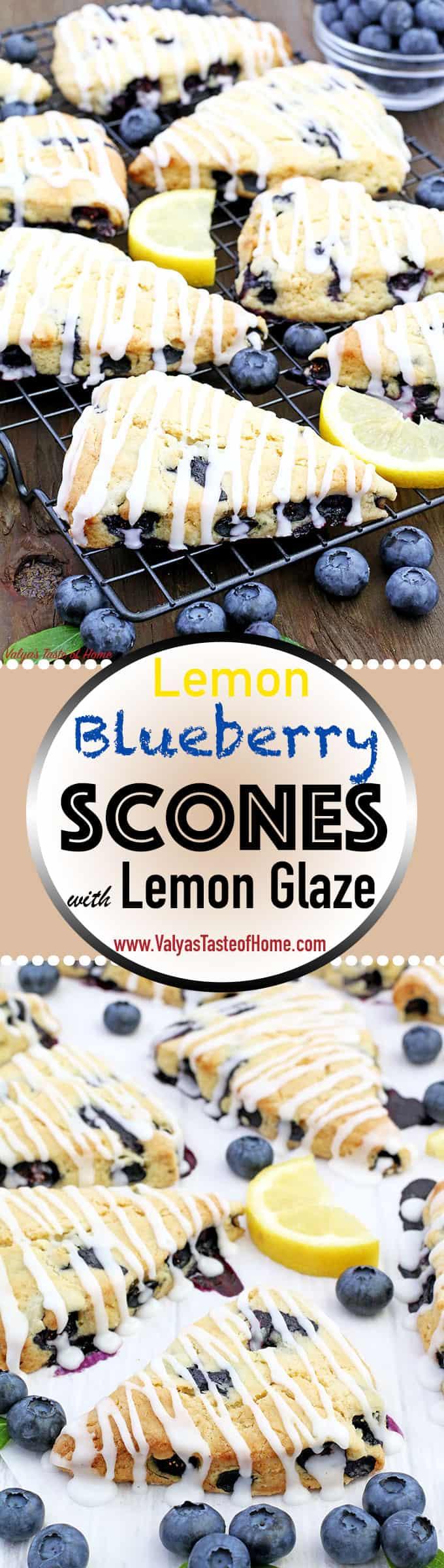 blueberries, blueberry scones, delicious, easy recipe, farm freshly picked blueberries, Lemon Blueberry Scones, Lemon Blueberry Scones with Lemon Glaze, Lemon Glaze, piper farm blueberries, scones, soft and flaky, summer baking
