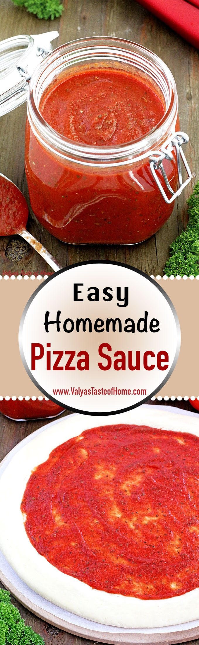 2 minute recipe, 4 ingredients pizza sauce, clean eating, delicious, easy, Easy Homemade Pizza Sauce Recipe, garlic powder, healthy eating, homemade pizza sauce, homemade tastes best, organic Italian seasoning, organic tomato sauce, pizza sauce, quick and easy recipe, sea salt, so flavorful, tasty