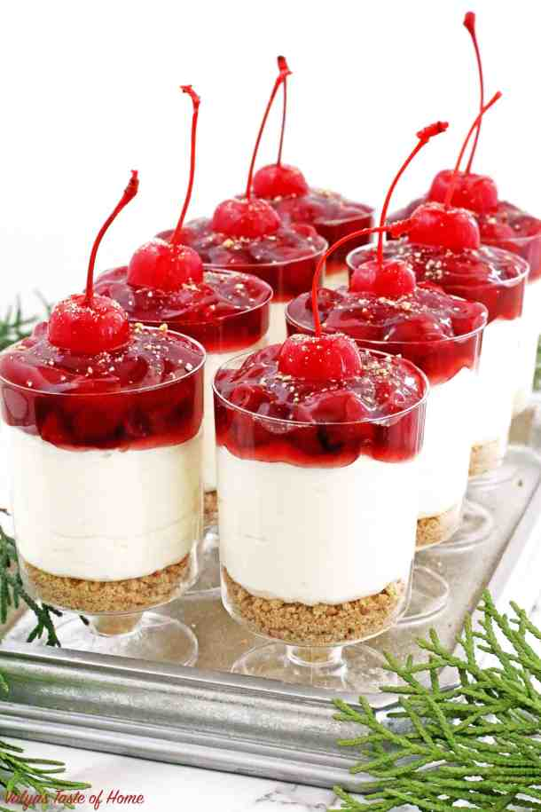 These No Bake Cherry Cheesecake Parfaits are not only beautiful, but they are delicious, perfectly portioned décor dessert that is any party friendly.