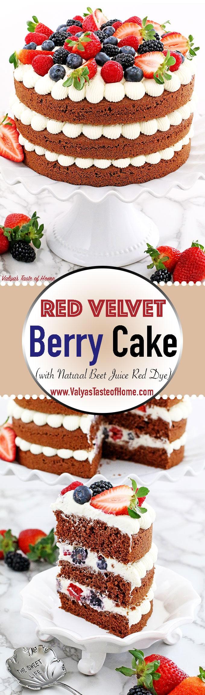 Red Velvet Berry Cake Recipe « Valya\'s Taste of Home