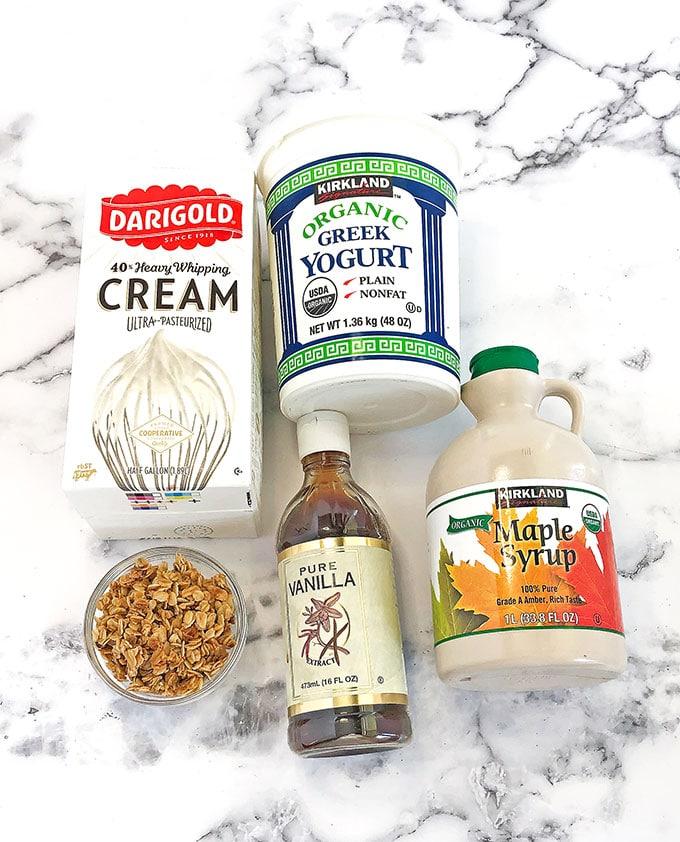 Ingredients for the Best Creamy Grape Salad recipe. #fruitsalad #grapesalad #valyastasteofhome #bestcreamygrapesalad