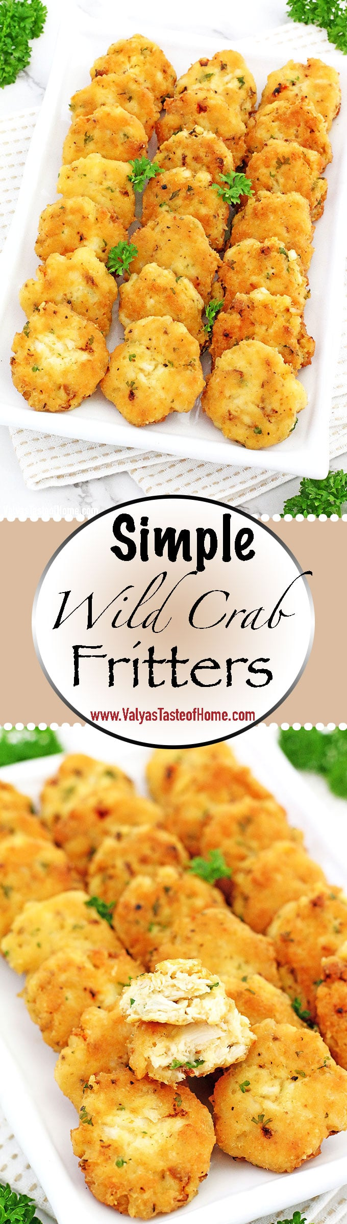 The name says it all! If you like easy recipes then this Simple Wild Crab Fritters Recipe is for you. The most scrumptious crab cakes you can taste. Crisp on the inside, tender and juicy on the inside and the flavors are absolutely incredible.
