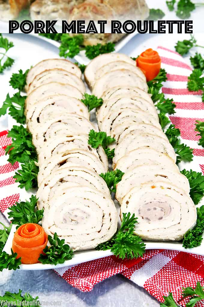 This Pork Meat Roulette is a fairly special traditional Ukrainian recipe that is usually passed down in the family and mostly brought out for special occasions. It is unique, scrumptious and perfect for your Christmas dinner!