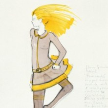 1) Mary Quant (b.1934), fashion design, London, mid 1960s. Museum no. E.520-1975